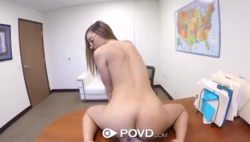 Super hot Asian bitch sixty nines and fucks real h