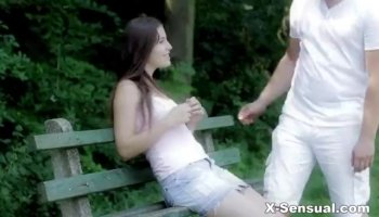College girl with amazing boobs jerking my dick