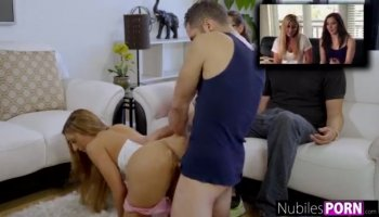 Delicious chick lets hunk energizes her beaver