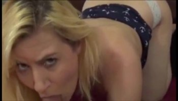 Lucky chick gets to suck a studs rod